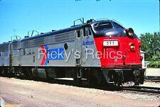 Original Slide Amtk 377 Emd Fp7A Amtrak Merced Ca 1976
