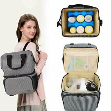 Luxja Breast Pump Bag with 2 Compartments for Breast Pump & Bottles- Striped