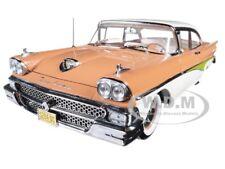 1958 FORD FAIRLANE 500 HARD TOP PALOMINO TAN 1/18 PLATINUM SERIES SUNSTAR 5284