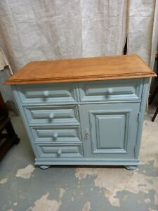Painted Solid Wood Drawer Cupboard.