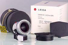 LEITZ LEICA 11897 ELMARIT-M 2.8 21mm ASPH. 21 SILVER E55 WIDE NEAR MINT IN BOX