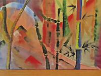 Large 1970's Abstract Expressionist Oil Painting on Canvas by Lois Gross Smiley