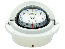 NEW F83W WHITE VOYAGER FLUSH MOUNT MARINE POWER BOAT COMPASS - RITCHIE F-83W
