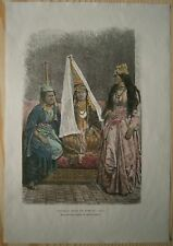 1884 Reclus print DRUZE PRINCESS AND LADY OF LEBANON (#68)