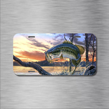Bass Fishing Fish Vehicle License Plate Front Auto Tag boat Plate Lake pond New