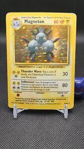 Pokemon - Magneton 9/102 Holo Rare Base Set  - Read See Pics MA001