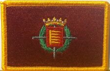 Valladolid, Spain / Espana Flag Embroidery Iron-On Patch Gold Border