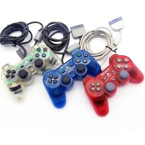 RED Sony PlayStation Analog Controller Dualshock PS1 SCPH-110 Original