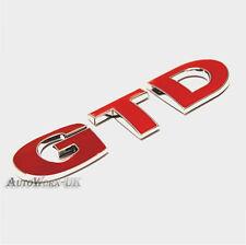 Gtd red badge emblème vw golf MK6 MK7 mark 6 7 gt tdi vi vii arrière hayon coffre