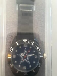 NFL DALLAS COWBOYS ~ Black Analog Sports Watch ~ Rico Industries ~ NEW