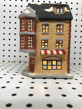 Dickens Collectables Toy Shop Christmas Village Bisque Porcelain House Lighted
