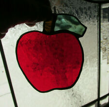 Apple Glass Suncatcher