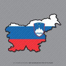 Etiqueta engomada de la bandera de Eslovenia Mapa-Coche-Laptop-Macbook Notebook - 2955
