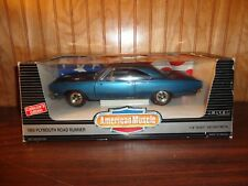 American Muscle 1/18 1969 Plymouth Road Runner Jamaica Blue Detailed Die-Cast