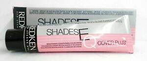 REDKEN SHADES EQ COVER PLUS Brightening Conditioning Hair Color Cream ~2.1 fl oz