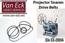 EIKI EX-2000A belts - 6 belt set (motor, top, teethed and fan belt