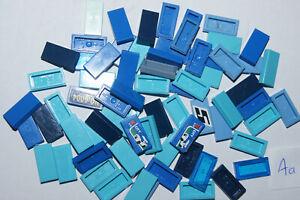 LEGO 71 BLUE 1x2 smooth floor TILES / Blocks # 3069 HOUSE CASTLE (Aa) GENUINE