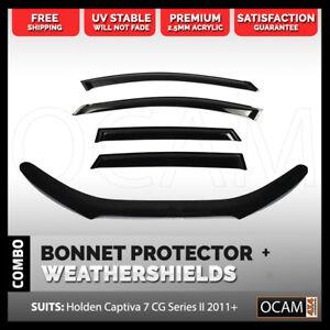Bonnet Protector, Weathershields For Holden Captiva 7 Series II 2011-18 CG