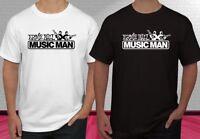 Ernie Ball Musicman Music World Logo Black White Men's T-shirt S-2XL