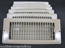 """Mobile Home RV Parts. Floor Register 4"""" x 10"""". Brown Metal Floor Vent.  Lot of 6"""