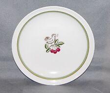 Royal Copenhagen Porcelain Kijafa Wine Gold Green Band Brown Bird Cherry Plate