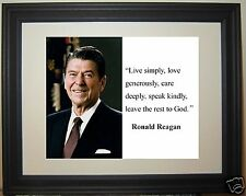 """Ronald Reagan """" speak kindly..."""" Famous Quote Framed Photo Picture # f1"""