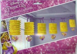 Disney Princess Rapunzel Paper Lantern Garland 12ft Birthday Hanging Decorations