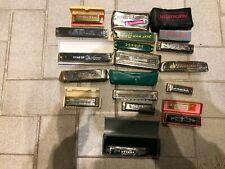 16 alte  Mundharmonikas ....