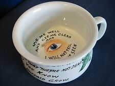 Vintage Buffalo China Chamber Pot w/Eye in the Middle - personalized