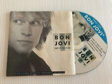 BON JOVI - SAY IT ISN'T SO - RARE PROMO ARGENTINA CD SINGLE