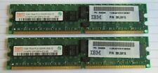 Hynix HYMP512R72BP4-E3 38L5915 2GB (2x1GB) PC2-3200 DDR2 ECC CL3 240P Memory