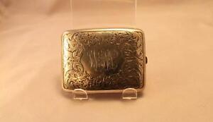 Antique Sterling Silver Cigarette Case.