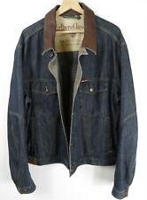 Marlboro Classics  Mens Denim Jean Jacket With Leather Collar Size XXXL : JA57