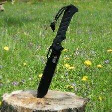 """11"""" Mtech Xtreme Tactical Slim Fixed Blade 440C SS BLACK Combat Knife G10 Handle"""