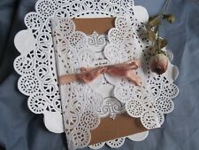 """100 PCS🌷 10"""" INCH WHITE CLASSIC PAPER ROUND LACE DOILY WEDDING WRAP SHEER LIGHT"""