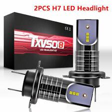 2PCS H7 LED Headlight Kit Bulbs 26000LM No Errors 6000K White DC 9-32V