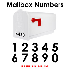 Mailbox Numbers House Number Vinyl Decal Sticker Label   HOA Approved 548