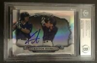 Keston Hiura Signed 2018 Bowman Sterling Authentic Beckett Slabbed Brewers
