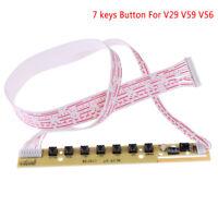Universal 7keys keyboard plate LCD TV accordance keypad with IR for v59 v29 v5yu