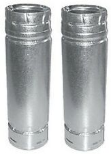 """(2) ea M&G DuraVent 3PVL-24R 3"""" x 24"""" Pellet Stove Double Wall Chimney Vent Pipe"""