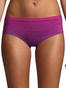 No Boundaries Women's Seamless Hipster Panties Size SMALL (5) Sparkling Purple