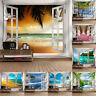 3D Spring Scenery Outside Window Wall Hanging Tapestry Beach Towel Picnic Mat