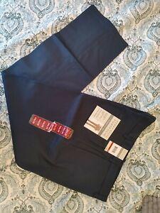 Perry Ellis Portfolio Premium Flex Pants Stretch Flex Waist No Iron Twill Navy