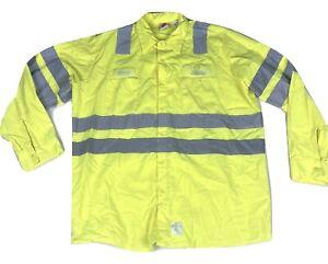 Long Sleeve Safety Hi Visibility HV Shirts High Visibility Reflective Red Kap