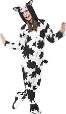 Party Animals Cow Halloween Costume Farm Child Kids Black N' White Small