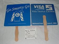 RARE SMARTY JONES 2004 BELMONT STAKES JOCKEY SILK FAN $2 WIN TICKET LOT