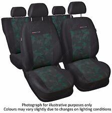 FORD FOCUS SEAT COVERS   Mk1 , Mk2 1998 - 2010 - FULL SET grey/green (56)