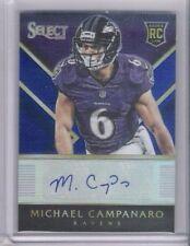 Sharp 2014 Panini Prizm Select Michael Campanaro Rookie Autograph Card 20/25