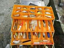 Vintage Tackle Box  Huge Full with Lures Loaded  with tackle
