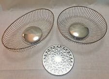 Vintage MCM Lot Wire Baskets and Trivet Eales Italy 1779 Bread Buns Serving Bowl